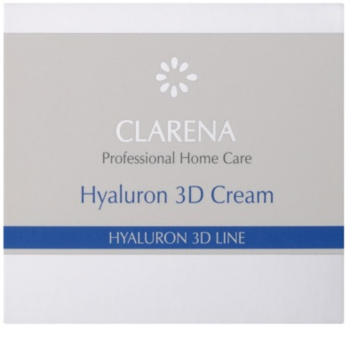 Clarena Hyaluron 3D Line crema de fata hidratanta cu acid hialuronic 2