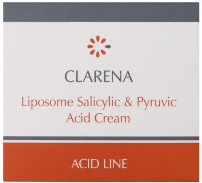 Clarena Acid Line Liposome Salicylic & Pyruvic Acid krem na noc do skóry z niedoskonałościami 2