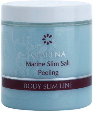 Clarena Body Slim Line Marine telový peeling so soľnými kryštálmi a bambuckým maslom s detoxikačným účinkom