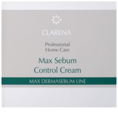 Clarena Max Dermasebum Line Max нормалізуючий крем для жирної шкіри 2