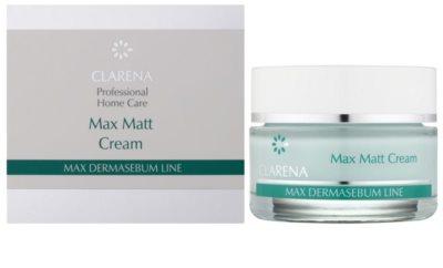 Clarena Max Dermasebum Line Max Matt mattierende Creme für fettige Haut 1