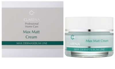 Clarena Max Dermasebum Line Max Matt matující krém pro mastnou pleť 1