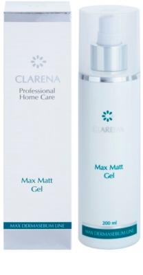 Clarena Max Dermasebum Line Max Matt gél gyengéd tisztításra zsíros bőrre 2