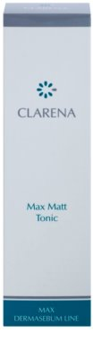 Clarena Max Dermasebum Line Max Matt tónico para pieles grasas 3