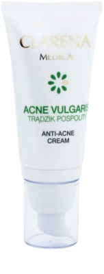 Clarena Medica Acne Vulgaris Crema pentru un ten hipoalergic predispus la acnee