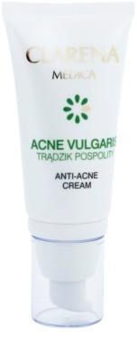 Clarena Medica Acne Vulgaris легкий гіпоалергенний крем для редукції  акне