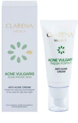 Clarena Medica Acne Vulgaris crema hipoalérgica con fórmula ligera para reducir el acné 1