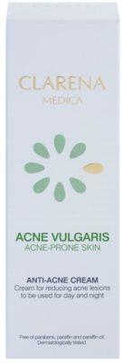Clarena Medica Acne Vulgaris crema hipoalérgica con fórmula ligera para reducir el acné 2