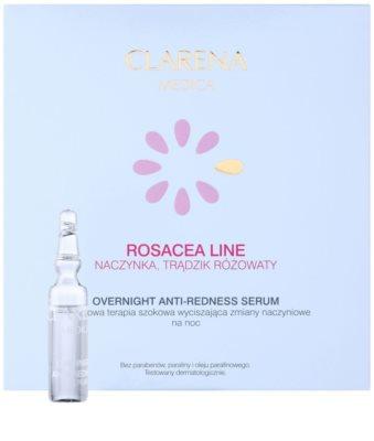 Clarena Medica Rosacea noční sérum pro citlivou pleť se sklonem ke zčervenání