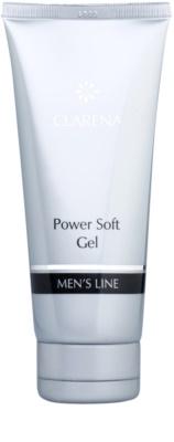 Clarena Men's Line Power gel limpiador suavizante con efecto humectante