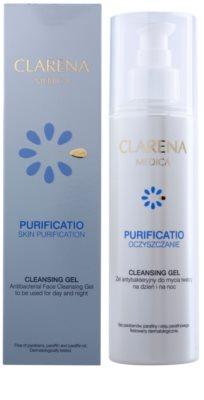 Clarena Medica Purificatio antibakterielles Reinigungsgel für unreine Haut 2