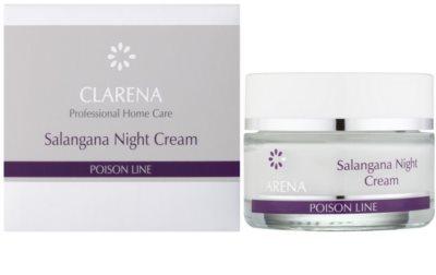 Clarena Poison Line Salangana нощен крем против бръчки  за кожа с хиперпигментация 1