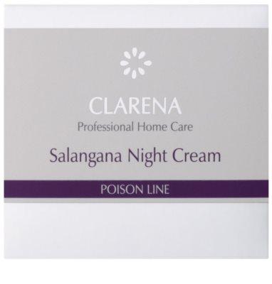 Clarena Poison Line Salangana нощен крем против бръчки  за кожа с хиперпигментация 2