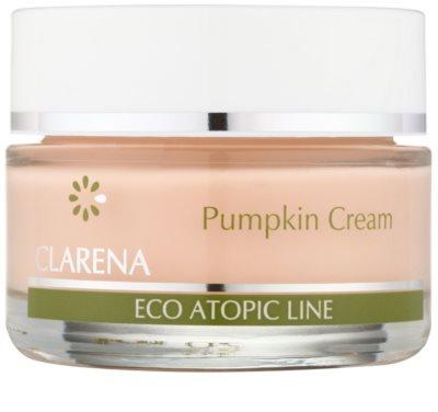 Clarena Eco Atopic Line Pumpkin regenerierende und hydratisierende Creme für fettige Haut