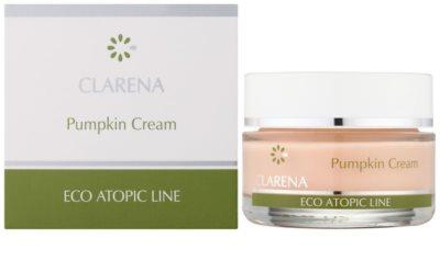 Clarena Eco Atopic Line Pumpkin regenerierende und hydratisierende Creme für fettige Haut 1