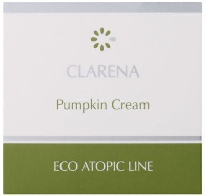 Clarena Eco Atopic Line Pumpkin regenerierende und hydratisierende Creme für fettige Haut 2
