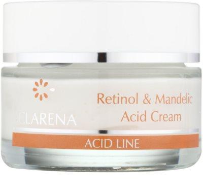 Clarena Acid Line Retinol & Mandelic Acid noční protivráskový krém pro užití během a po sérii exfoliačních ošetření