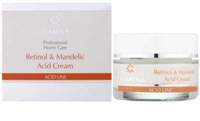 Clarena Acid Line Retinol & Mandelic Acid noční protivráskový krém pro užití během a po sérii exfoliačních ošetření 1