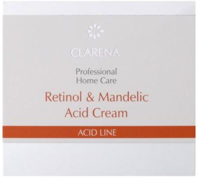 Clarena Acid Line Retinol & Mandelic Acid noční protivráskový krém pro užití během a po sérii exfoliačních ošetření 2