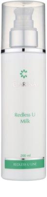 Clarena Redless U Line Reinigungs - und Abschminkmilch für empfindliche Haut mit der Neigung zum Erröten