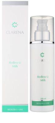 Clarena Redless U Line Reinigungs - und Abschminkmilch für empfindliche Haut mit der Neigung zum Erröten 1
