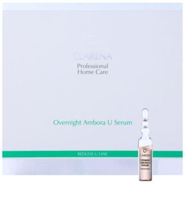 Clarena Redless U Line serum regenerujące na noc do skóry wrażliwej ze skłonnością do przebarwień