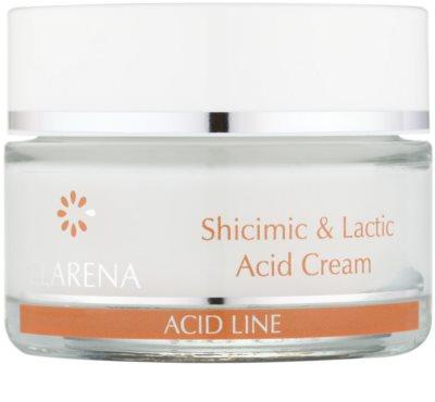 Clarena Acid Line Shicimic & Lactic Acid feuchtigkeitsspendende Anti-Falten-Creme zur Anwendung vor und nach einer Peeling-Behandlung