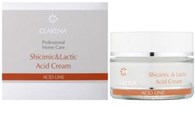 Clarena Acid Line Shicimic & Lactic Acid зволожуючий крем проти зморшок для застосування протягом/ після проведення серії процедур ексфоліації 1