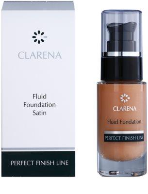 Clarena Perfect Finish Line Satin posvetlitveni fluidni tekoči puder za suho in občutljivo kožo 2