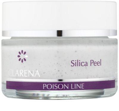 Clarena Poison Line Silica Peel čistiaci peeling na tvár, krk a dekolt