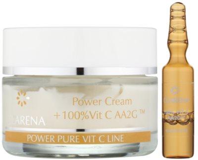 Clarena Power Pure Vit C Line krem do twarzy  przed pierwszymi oznakami starzenia + ampułka z witaminą C