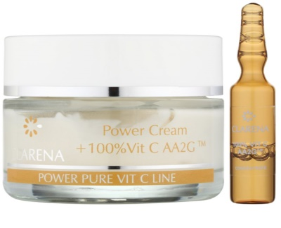 Clarena Power Pure Vit C Line pleťový krém proti prvním známkám stárnutí + ampulka s vitaminem C