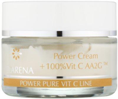 Clarena Power Pure Vit C Line krem do twarzy  przed pierwszymi oznakami starzenia + ampułka z witaminą C 1