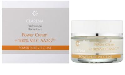 Clarena Power Pure Vit C Line krem do twarzy  przed pierwszymi oznakami starzenia + ampułka z witaminą C 3