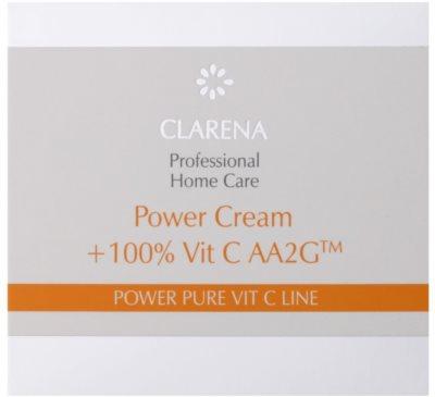 Clarena Power Pure Vit C Line krem do twarzy  przed pierwszymi oznakami starzenia + ampułka z witaminą C 4
