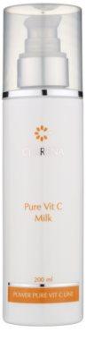 Clarena Power Pure Vit C Line укрепващо мляко за отстраняване на грим за спукани капиляри