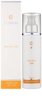 Clarena Power Pure Vit C Line укрепващо мляко за отстраняване на грим за спукани капиляри 1