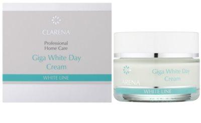 Clarena White Line Giga bleichende Tagescreme zur Vereinheitlichung der Hautfarbe 1