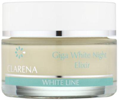 Clarena White Line Giga krem wybielający na noc do ujednolicenia kolorytu skóry