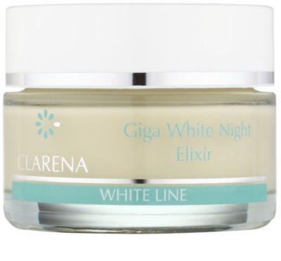 Clarena White Line Giga nočný bieliaci krém pre zjednotenie farebného tónu pleti