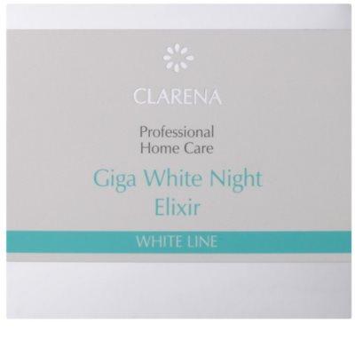 Clarena White Line Giga nočný bieliaci krém pre zjednotenie farebného tónu pleti 2