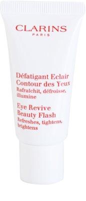 Clarins Beauty Flash gel para contorno de ojos antiarrugas, antibolsas y antiojeras