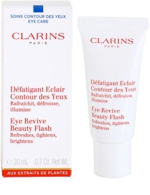Clarins Beauty Flash gel para contorno de ojos antiarrugas, antibolsas y antiojeras 1