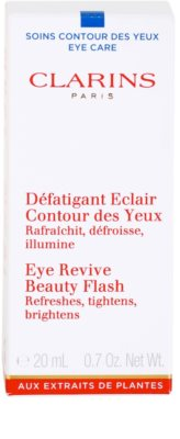 Clarins Beauty Flash gel para contorno de ojos antiarrugas, antibolsas y antiojeras 2