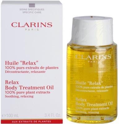 Clarins Body Specific Care aceite corporal relajante  con extractos vegetales 1