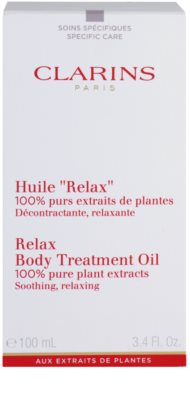 Clarins Body Specific Care óleo corporal relaxante com extratos vegetais 2