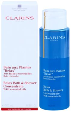 Clarins Body Specific Care Relax Bath & Shower Concentrate With Essentials Oils 1