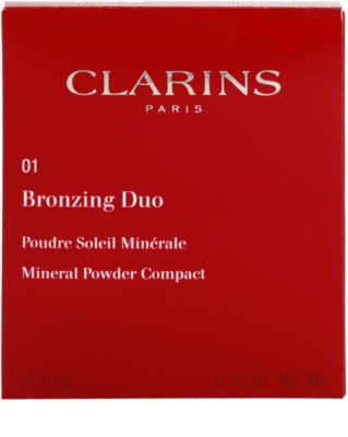 Clarins Face Make-Up Bronzing Duo polvos bronceadores minerales 3