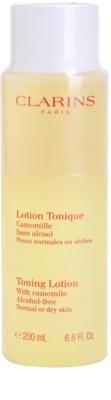 Clarins Cleansers água terapêutica tonificante com camomila para pele normal e seca
