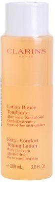 Clarins Cleansers erfrischendes Tonikum für trockene bis empfindliche Haut